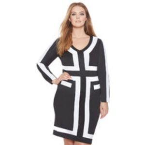 Eloquii Color Block Dress